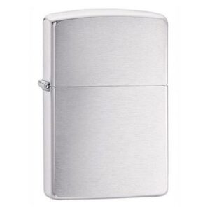 ZIPPO MẠ CHROME XƯỚC VÂN NGANG – CLASSIC BRUSHED CHROME 200