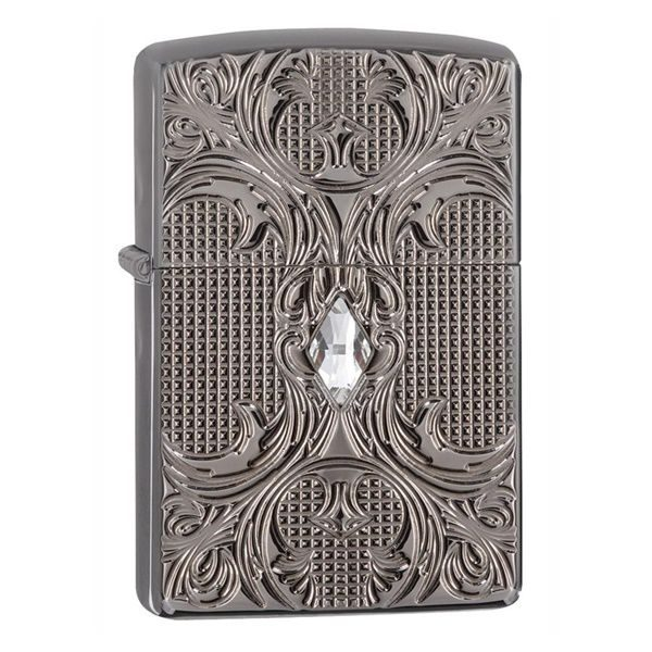 ZIPPO 28956 – CRYSTAL LATTICE ARMOR HIGH POLISH BLACK ICE