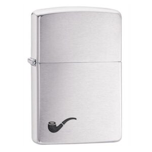 ZIPPO BRUSHED CHROME PIPE 200PL